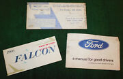 1966 Ford Falcon Coupe Sedan Futura Orig Owners Manual Good Drivers Manual Pouch