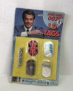 Vintage James Bond 007 I.d Tags 24 Metal Chain Imperial Toys 1984 New Sealed