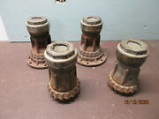 Set Of Four Buffalo 4.5s Wire Wheel Hubs And Capsmarmon Plates In Hubcaps