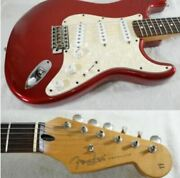 Fender Mexico Deluxe Stratocaster Car Candy Apple Red And03998-and03999 Electric Guitar