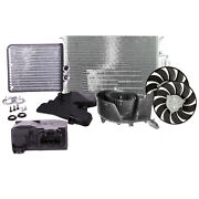 Valeo 2 Cooling Fans Condenser Blower Motor Heater Core Actuator Kit For 9-3