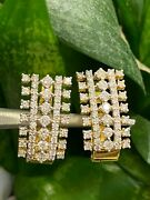 1.67 Cts Round Brilliant Cut Natural Diamonds Hoop Earrings In 585 Fine 14k Gold