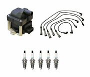 Denso Ignition Coil And Wire Set 5 Iridium Tt Spark Plug Kit For Vw 2.5 L5 Vin D C