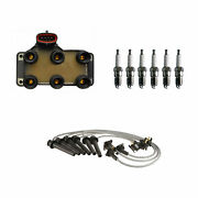 Denso Ignition Coil Wire Set And 6 Ugroove Spark Plugs Kit For Ford Mercury 3.0 V6