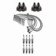 Denso 2 Ignition Coils Wire Set 8 Platinum Tt Spark Plugs Kit For Ford 4.6 Vin W