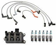 Denso Ignition Coil Wire Set 6 Iridium Power Spark Plugs Kit For Ford Mercury V6