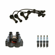 Denso Ignition Coil Wire Set 4 Iridium Power Spark Plugs Kit For Ford Escort 2.0