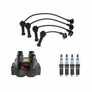 Denso Ignition Coil Wire Set And 4 Iridium Power Spark Plugs Kit For Ford 2.0l L4