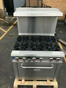 Stove Range 6 Burners New Natural Gas 36 Stainless Steel Commercial