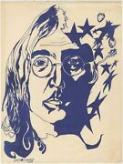 Dave Chavez / John Lennon Fan Art From Mexico Hand-illustrated Record Sleeve