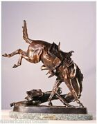 Frederic Remington Wicked Pony Finest Us Lost Wax Bronze Statue Regular Size