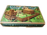 Early American Fort Set Lincoln Logs Set 50 Rare Vintage Antique