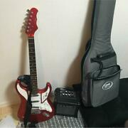 Burns Cobra Dx Car Candy Apple Red Electric Guitar W/ Soft Case Japan Shipped
