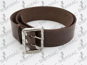 100 New Ussr Army Stile Officer Leather Brown Belt Stitched. Usa Seller