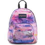 New Jansport Half Pint Backpack Mini Small Girls Tie-dye Palm Trees