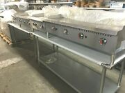 Griddles Grill Flat Top Gas 48 New Wt 4 Burners 48and039and039 X 30and039and039 X 15h Stainless St