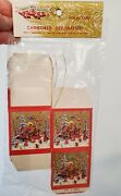 Vtg Liberty Bell Brand Christmas Cardboard Ornament Treat Candy Boxes 6 Taiwan
