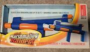 New Mini Marshmallow Raiders Shooter Gun Shoot Toy Rapid Fire Pump Action As Is