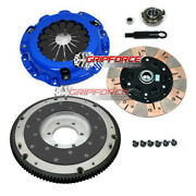 Fx Twin-friction Clutch Kit + Aluminum Flywheel For Mazda Rx7 Rx-7 Turbo 13b-re