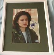 Jodie Foster Autographed Signed Silence Of Lambs 8x10 Movie Photo Framed Bas Coa