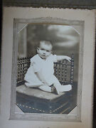 Anitque Photograph Of Baby Coox Studio Rochester New York Envelope Card