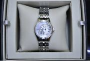 Rare Marvin Watches C°1850 Dial Shell Diamond Unisex Watch Swiss Made With Box