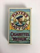 Players Navy Cut Cigarette Pack 1940s Imperial Tobacco Uk Medium 10 Count Empty