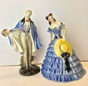 1940s Goldcrest Creation 2 Figurines A Southern Beau And Belle By Peggy Porcher