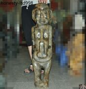 32china Hongshan Culture Old Jade Hand Carved Woman People Male Genitals Statue