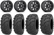 Fuel Maverick Bdlk Bk 14 Wheels 28 Bear Claw Evo Tires Kawasaki Mule Pro Fxt