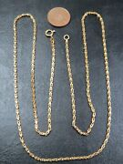 Rare Vintage 18ct Gold Square Barleycorn Link Necklace Chain 28 Inch C.2000