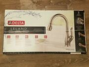 New Delta Leland Kitchen Sink Faucet Brilliance Stainless Steel Pull Down Head