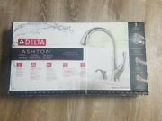 New Delta Ashton Kitchen Sink Faucet Brushed Stainless Steel Pull Down Head