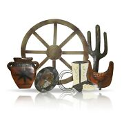 Metal Western Wall Décor, 32 By 23 Farmhouse Rustic Home Decor Living Room