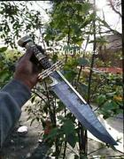 For Easter Gift 20 Inches Damascus Steel Gorgeous Dagger With Leather Sheath