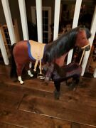 American Girl Felicty Penny Horse And Patriot Foal Lot