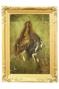 Antique Oil Painting Of Dead Game Still Life Signed John Christopher Bell 1885