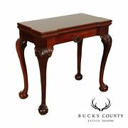 Chippendale Style Mahogany Folding Card Table Game Table