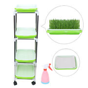 Seed Sprouter Tray W/ Lid Sprouting Kit Soil-free Kitchen Sprouts Planting Tower