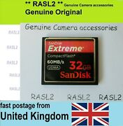 32 Gb Sandisk Udma Cf Compact Flash Memory Card For Canon 7d 5d Xf Nikon Sony