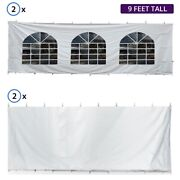 9fth 30x30 High Peak Tent Sidewall Kit Solid And Cathedral Window 16oz Blockout