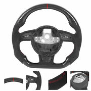 Steering Wheel Suede Carbon Fiber For A4 A5 A6 A7 Rs3 Rs4 Rs5 Rs6 Rs7 2013-2016