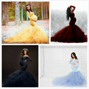 Maternity Pregnant Mermaid Lace And Tulle Dress Photography Props Pregnancy Dress