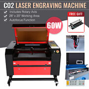 60w 28x20 Inch Co2 Laser Engraver Engraving Ruida With Rotation Axis Autofocus