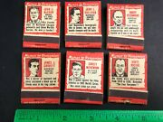 1950 Pedros Rum With Matches Matchbook Set Collection Sports Stars