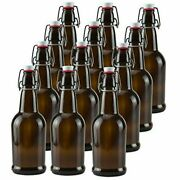New Ilyapa 16oz Clear Glass Beer Bottles For Home Brewing - 12 Pack