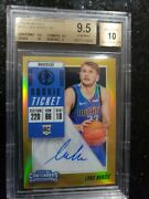 2018-19 Panini Contenders Luka Doncic Premium Gold Rc Auto Bgs 9.5/10 Pop 1 Of 1