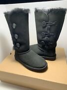 New Ugg Women's Bailey Button Triplet Ii Boots Black Size 7