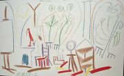 Pablo Picasso Sketch Untitled No 1 Dated 15/11/1955 Lithograph