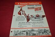 Oliver Tractor Oc-3 Crawler Tractor With Henry Hydraulic Backhoe Brochure Fcca